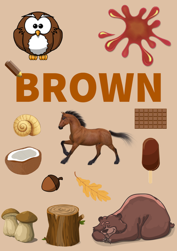 Colour Poster: Brown