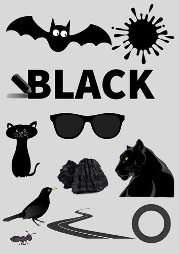 Colour Poster: Black
