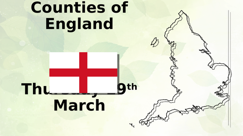 Counties in England PowerPoint Year 3