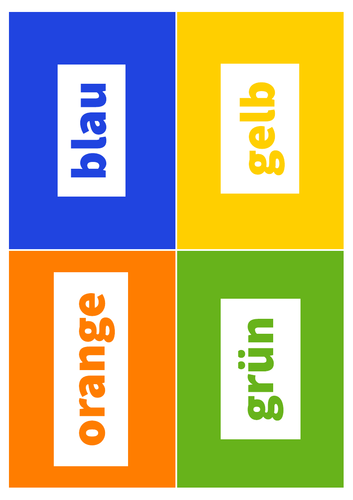 German Flashcards: Colours