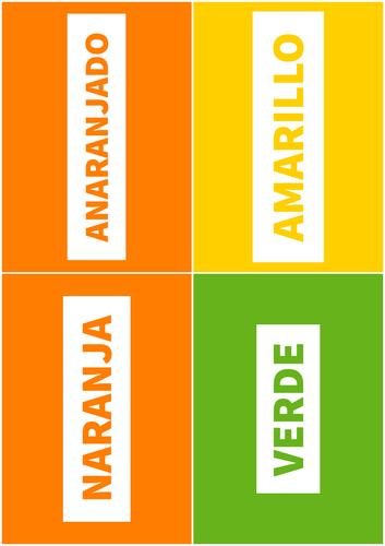 Spanish Flashcards: Colours (masculine & feminine)