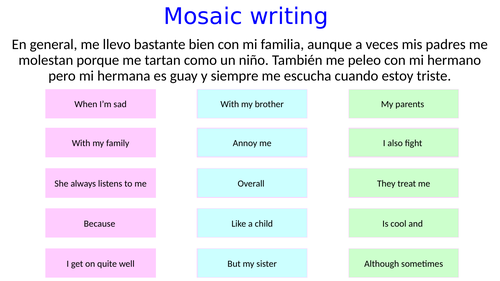family relationships - ESL for speakers of Spanish