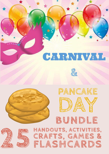 Pancake Day & Carnival Bundle 25 Activities!