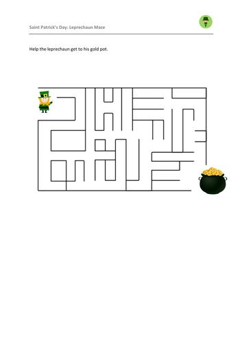 Saint Patrick's Day: Leprechaun Maze