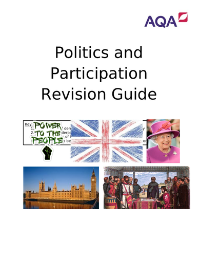 Political Power in the UK Revision Guide and Questions