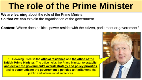 The role of a Prime Minister