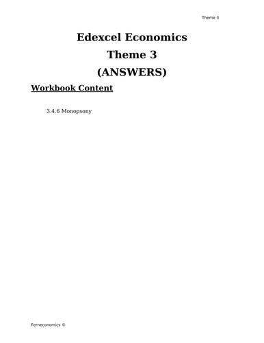 Edexcel Economics Theme 3: 3.4.6 Monopsony