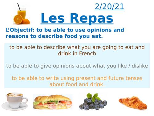 KS3 French La nourriture / Food Lesson