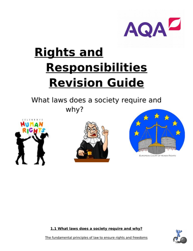 What laws does a society require and why? Revision Guide and questions