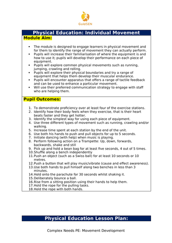 PE for Complex Needs: Individual Movement