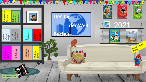 French and German World Book Day -virtual library -live lesson and screen free activities