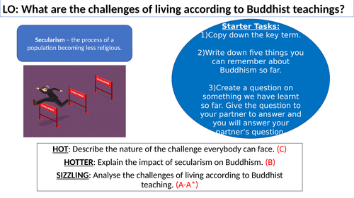 WJEC GCSE RE Unit One - Buddhism Beliefs and Teachings  - Challenges of living