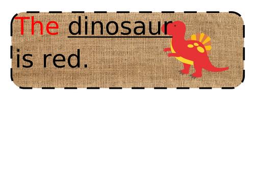 Dinosaur simple sentences