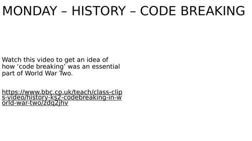 WW2 Code-Breaking Lesson