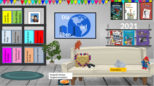 Spanish World Book Day -KS3 -virtual library -live teaching and face to face activities