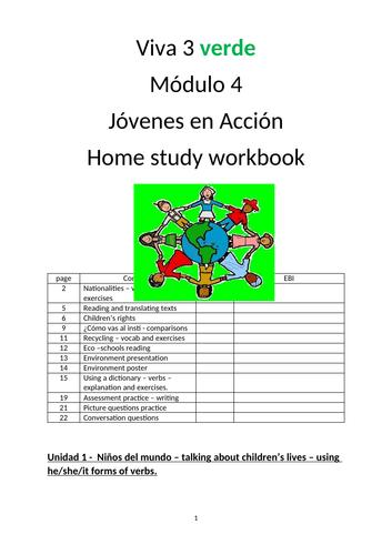 Viva 3 Verde Mod 4 Jovenes en accion Workbook