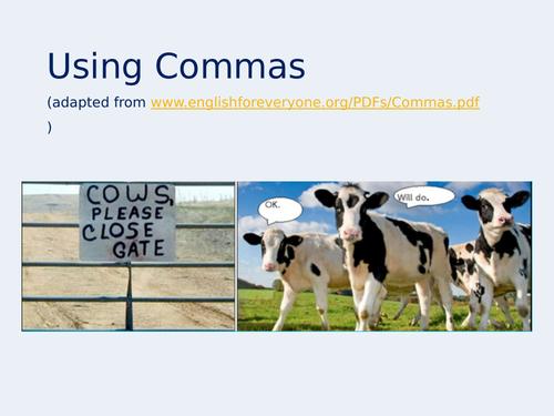 Using Commas Presentation (updated version)
