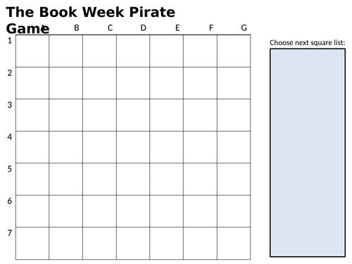 World Book Week Pirate Game