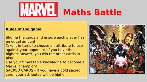 Marvel Maths Battle