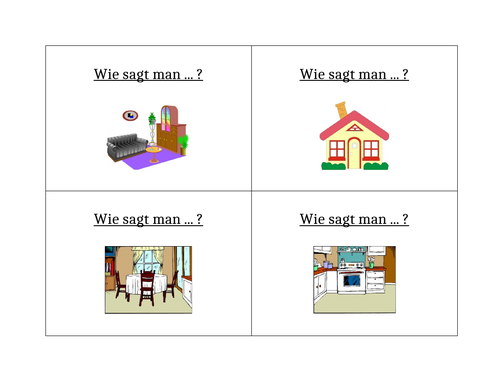 Haus (House in German) Question Question Pass Activity