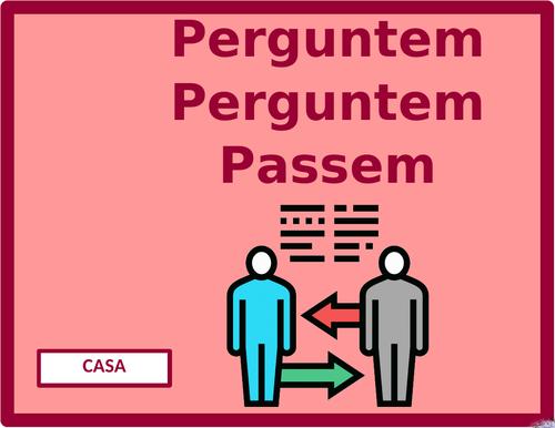 Casa (House in Portuguese) Question Question Pass Activity
