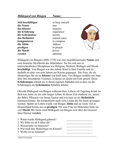Hildegard von Bingen: Biography of Famous Medieval Nun (English Version)
