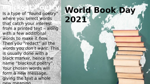 World Book Day Lesson 2021 Art. Poetry. Literature.
