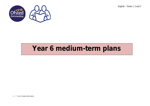 Year 6 English - Medium Term Plans - Terms 1, 2 and 3