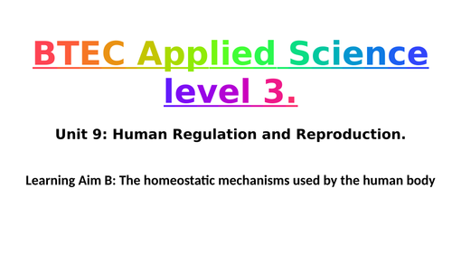 Pearson BTEC Applied Science L3 Unit 9: Learning Aim B