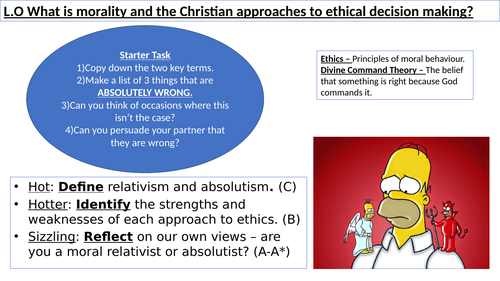 WJEC GCSE RE - Christianity Practices - Morality - Approaches to Ethical decision making - Unit One