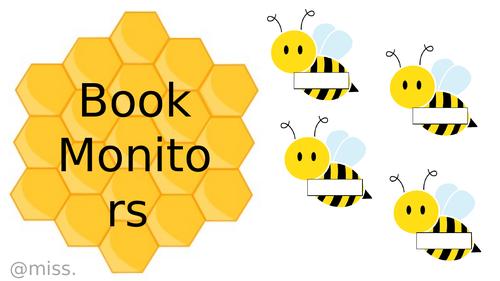 Busy Bee Classroom Jobs - editable