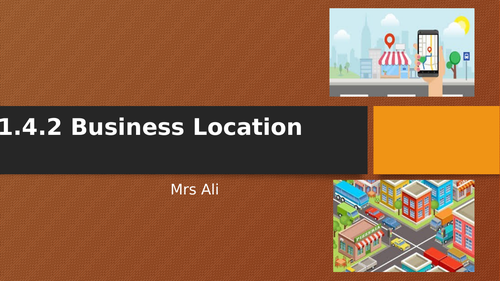GCSE Business Location