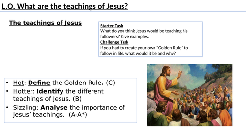 WJEC GCSE RE - Teachings of Jesus - Christianity Practices Unit One