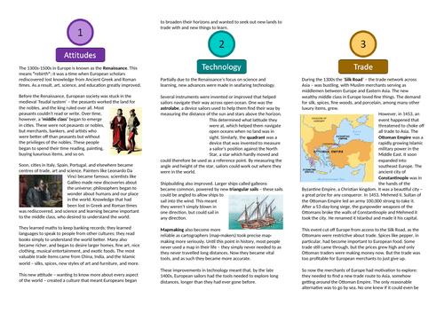 Why Europeans Explored - European Exploration Unit
