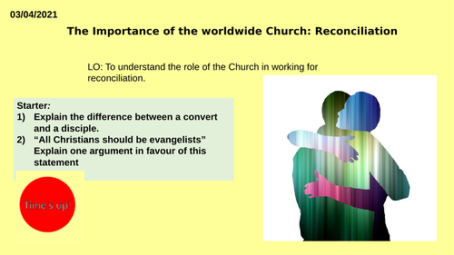 AQA GCSE RE RS - Christianity Practices - L8 Reconciliation