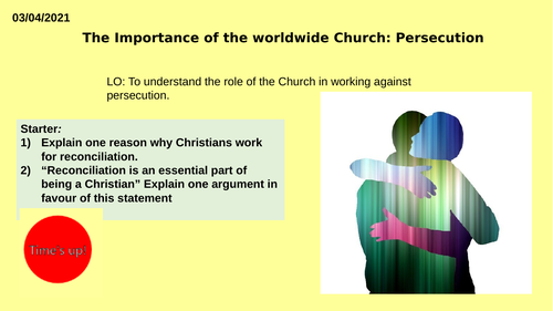 AQA GCSE RE RS - Christianity Practices - L9 Persecution
