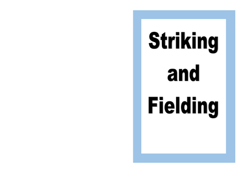 Striking and Fielding sports resource card