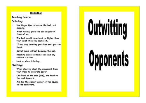 Outwitting Opponents Resource card