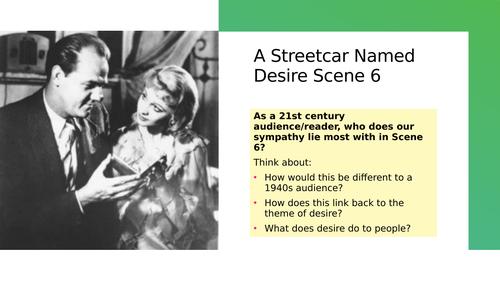 A Streetcar Named Desire Scene 6 Lesson