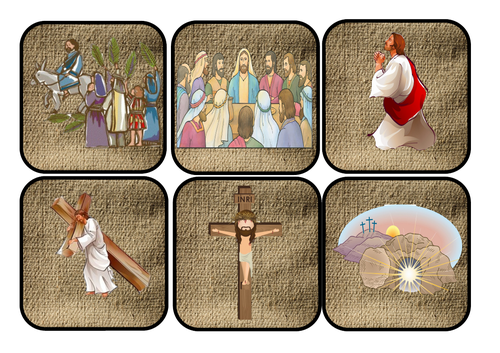 Easter story hunt inc last supper and palm Sunday