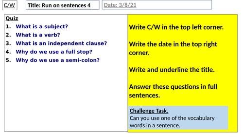 Run-on sentences 4