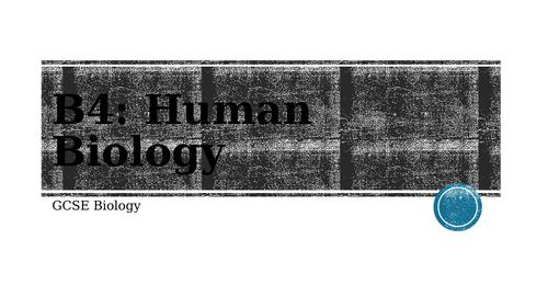 AQA GCSE Biology: Human Biology (B4)