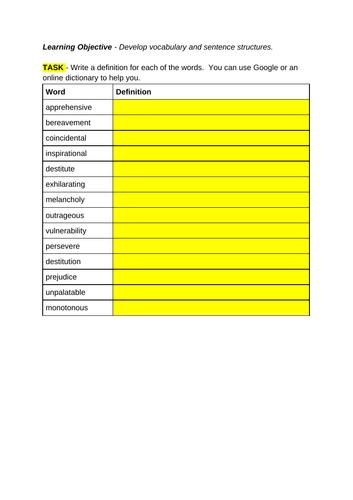 Vocabulary English Builder