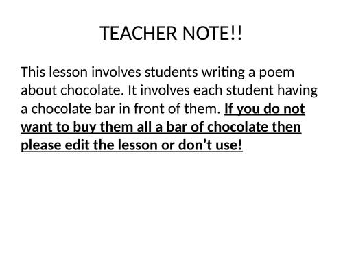 Chocolate Poem 5 senses
