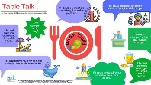 Dream World KS1 Conversation Starters - Table Talk