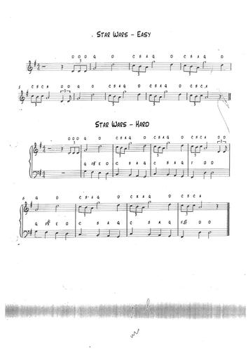 Simple Star Wars sheet music