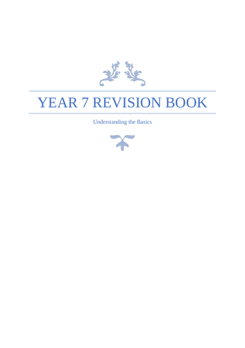 Year 7 Maths Revision Booklet