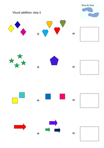 Visual addition Step 3