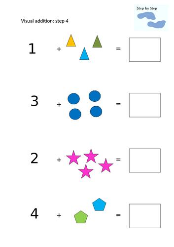 Visual addition step 4
