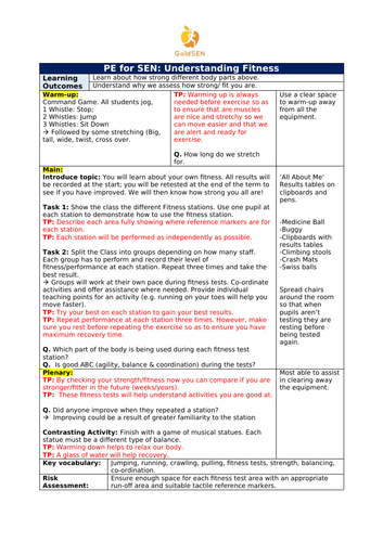 PE for SEN Pupils: Fitness